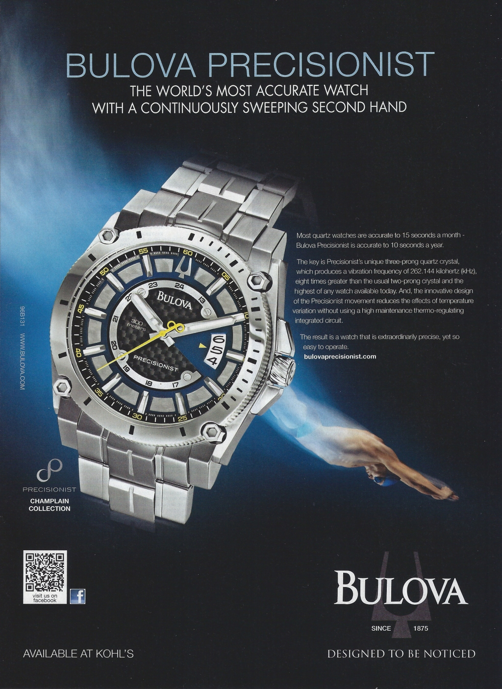 Bulova Precisionist. Designed to be noticed. Watch Ad