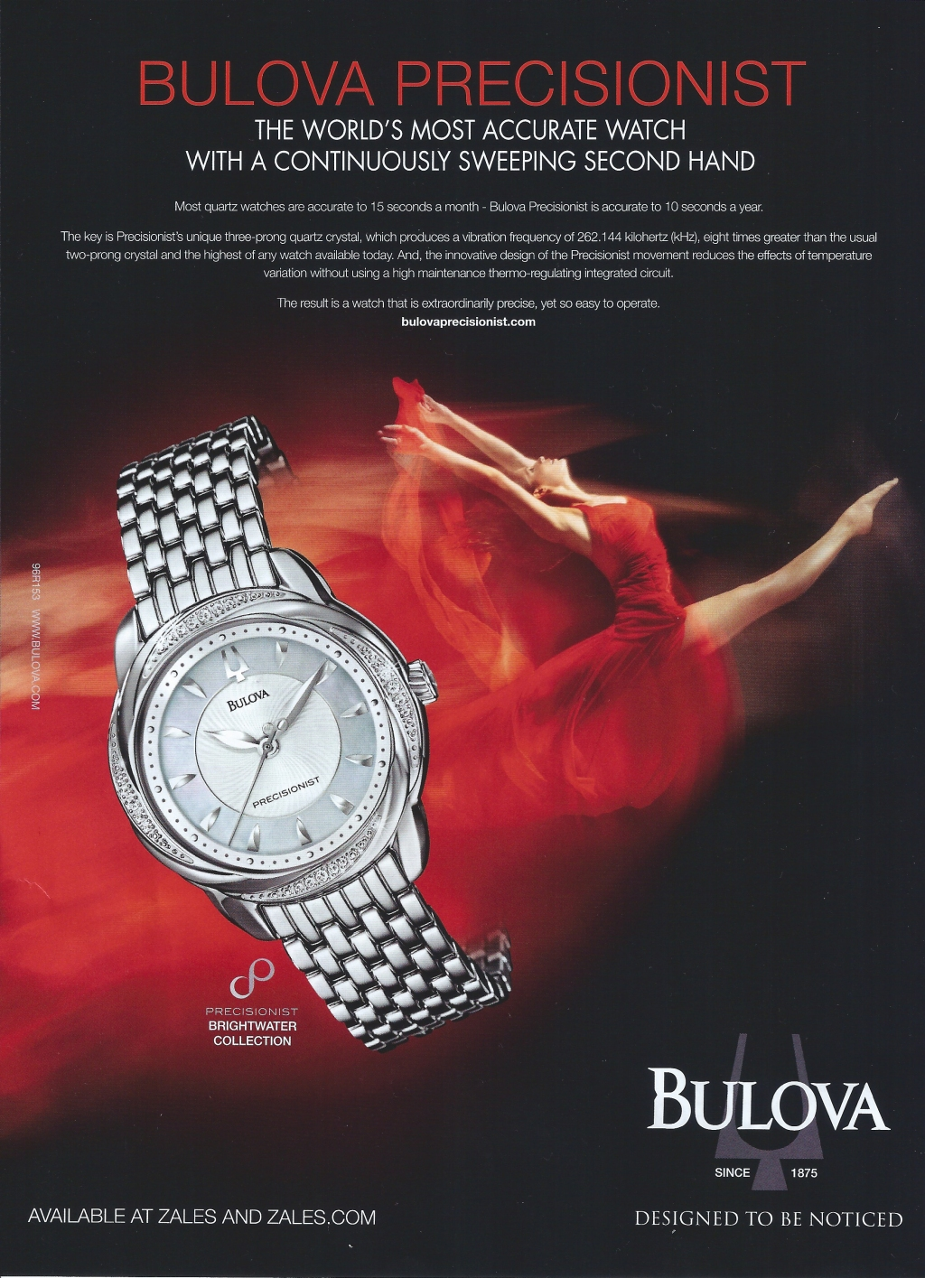Bulova Precisionist. Designed to be noticed. Watch Ad.