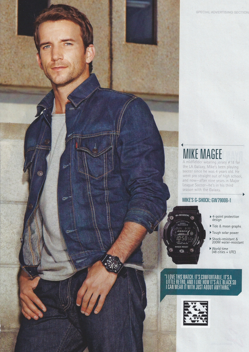 Good Timing. Mike Magee for G-Shock. Watch Ad