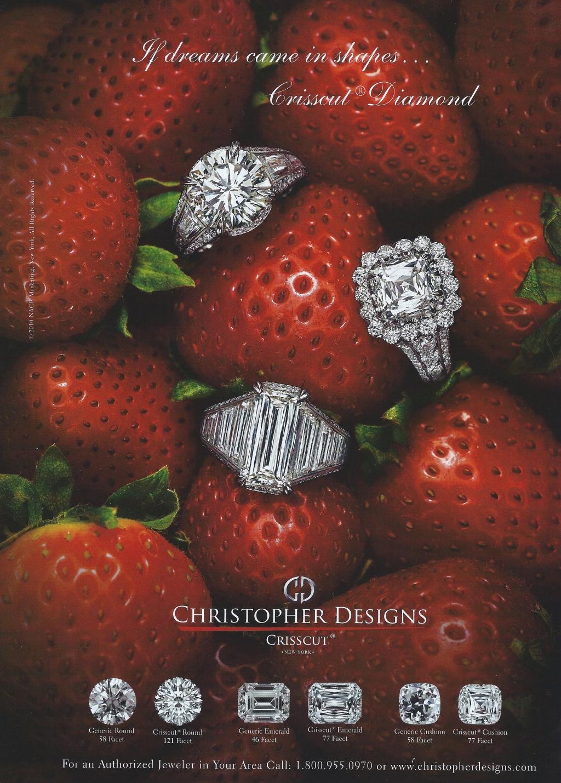 Strawberries, Criss Cut, Diamonds