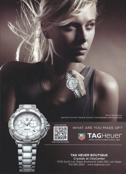 Watch Ad. What Are You Made Of? TAGHeuer  Maria Sharapova for TAGHeuer